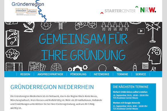 Die neue Website der Gründerregion Niederrhein ist online