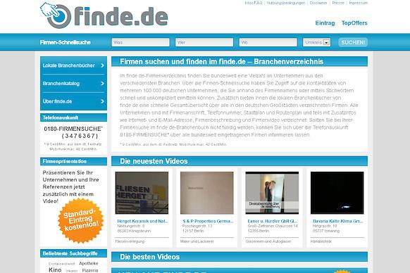 finde.de: Das neue deutschlandweite Branchenverzeichnis