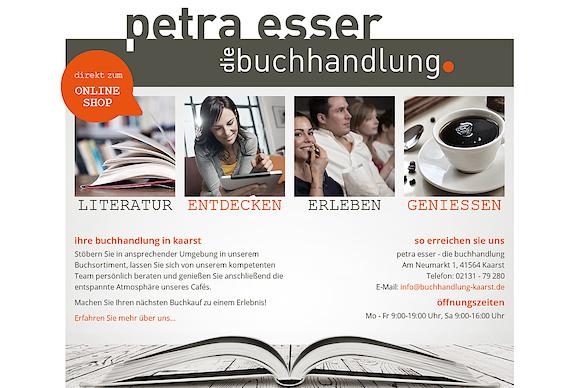 Die neue Website der Buchhandlung Petra Esser