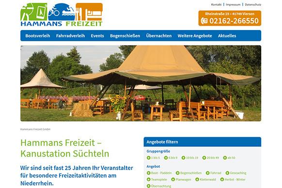 Neue Website für die Hammans Freizeit GmbH
