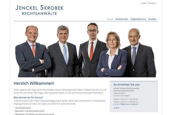 Neue Website für die Kanzlei Jenckel Skrobek