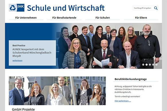 """Neue Website für """"IHK Schule und Wirtschaft"""""""