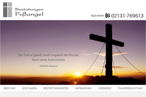 Website-Relaunch für Bestattungen Fußangel