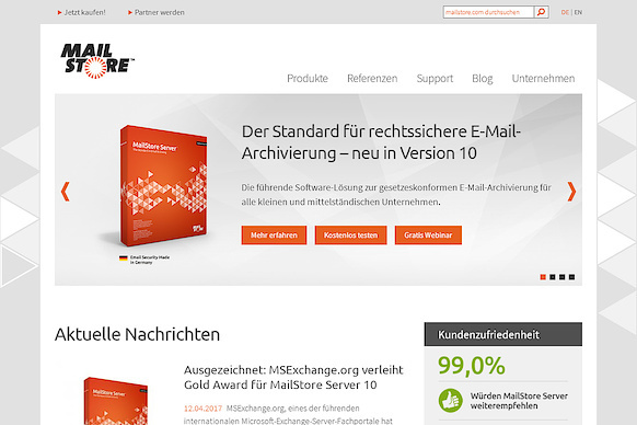 Website-Relaunch für die MailStore Software GmbH