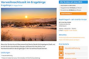Ab in den Bus: Das neue Reiseportal ist online