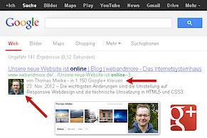 Autoren-Infos in den Google-Suchergebnissen als neuer Rankingfaktor