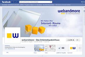 Facebook-Seite von webandmore