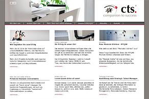 Die Website von CTS im neuen Look
