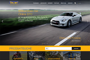 Design-Relaunch für die Öhlins DTC Website
