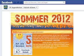 Fit Jugendreisen bei Facebook
