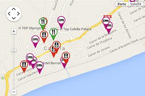 Google Maps mit allen Hotspots