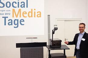 """Thomas Mielke zum Thema """"Technische Voraussetzungen und individuelle Umsetzungsmöglichkeiten für professionelle Blogs"""""""