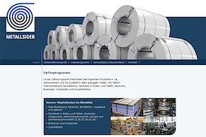 Metallsider mit neuer Website