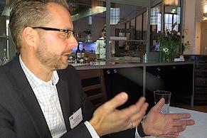 """Thomas Mielke moderierte den Tisch zum Thema """"Internetstatistik und Auswertung"""""""