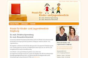 Neue Website der Praxis für Kinder- und Jugendmedizin Siegburg