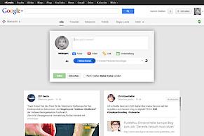 Google+ mit umfangreichem Redesign