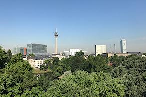Toller Blick auf Düsseldorf